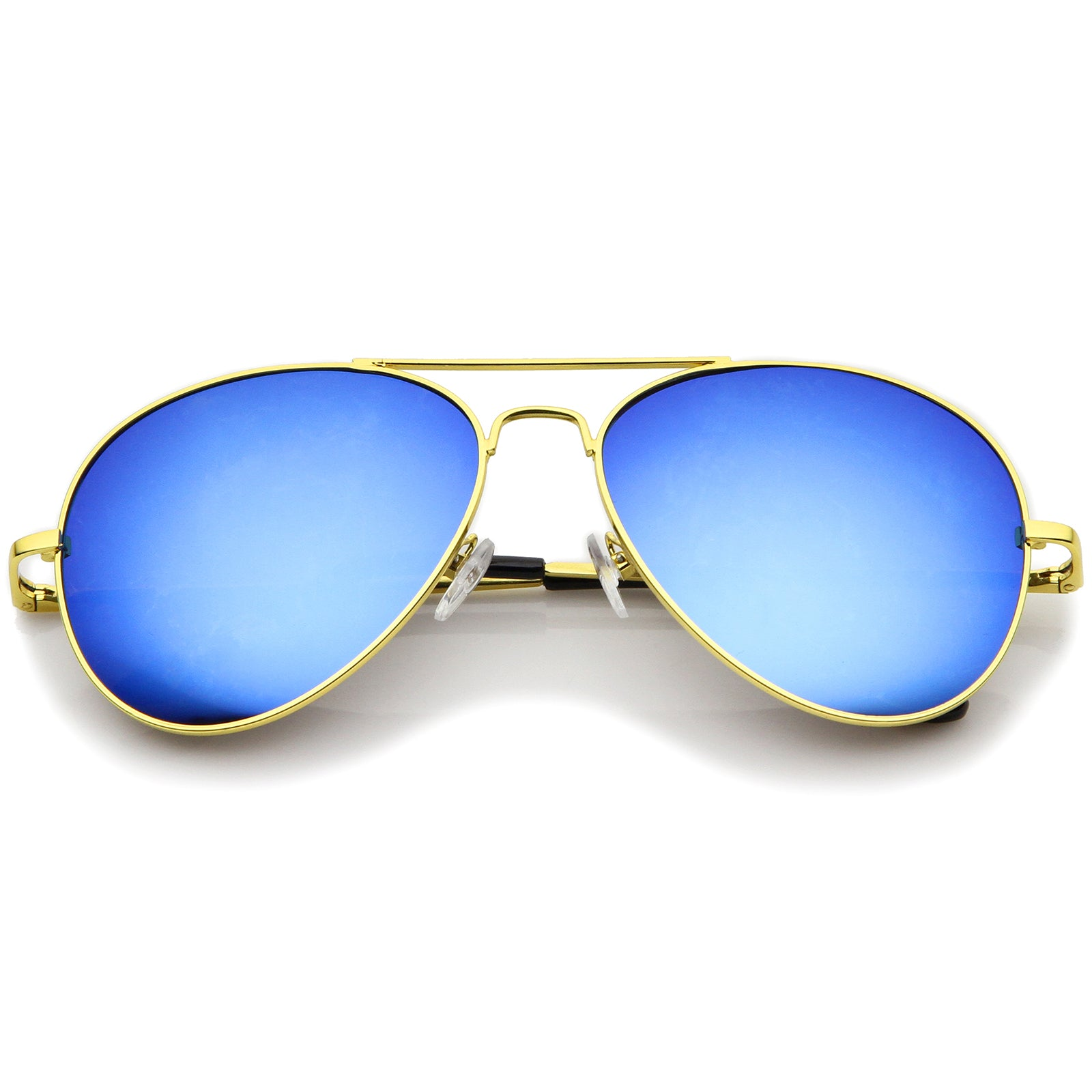 Classic Metal Frame Spring Hinges Color Mirror Lens Aviator Sunglasses Sunglass La