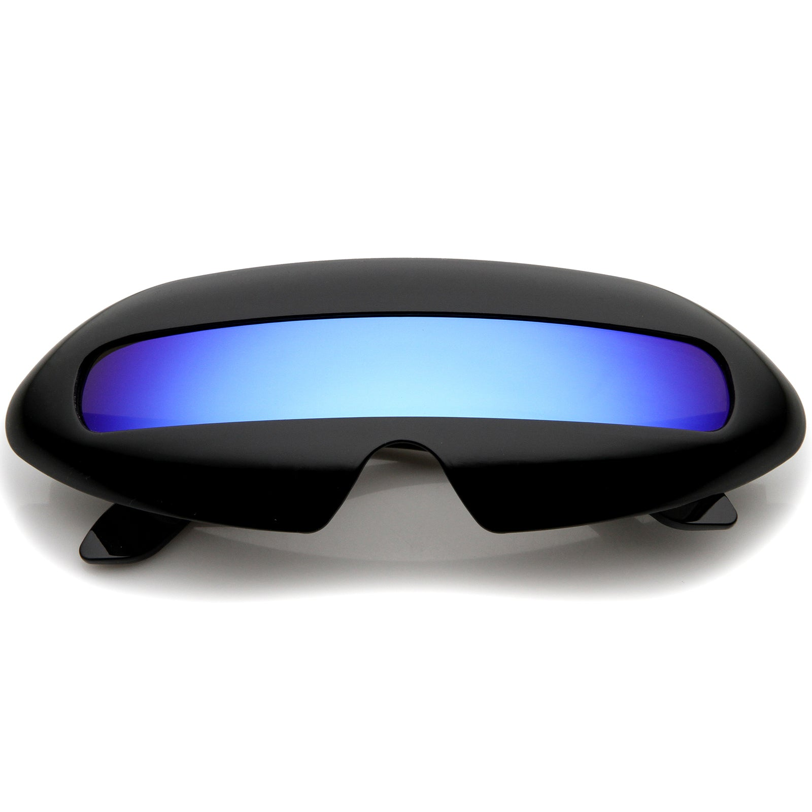 Futuristic Costume Single Shield Colored Mirror Lens Novelty Wrap Sunglasses 70mm - sunglass.la - 7