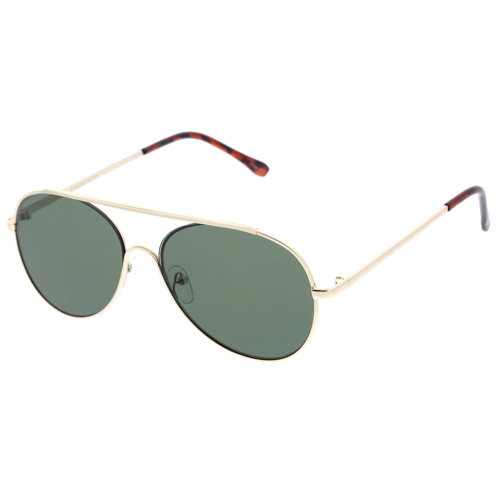 7d786280733 Classic Brow Bar Semi-Rimless Lens Aviator Sunglasses 57mm – sunglass.la