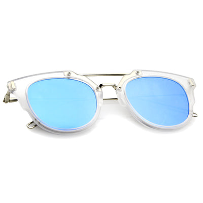 Clear-Silver / Blue Mirror