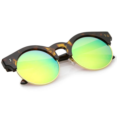 Tortoise-Gold / Pink-Green Mirror
