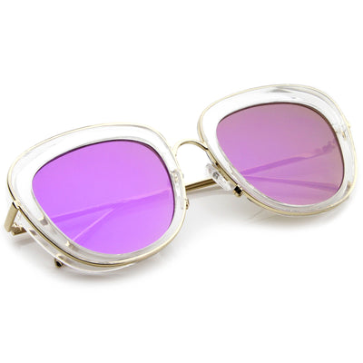 Clear-Gold / Purple Mirror