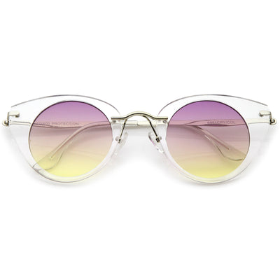 Clear-Silver / Purple-Yellow