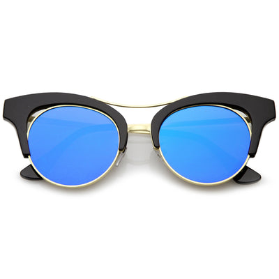Black-Gold / Blue Mirror