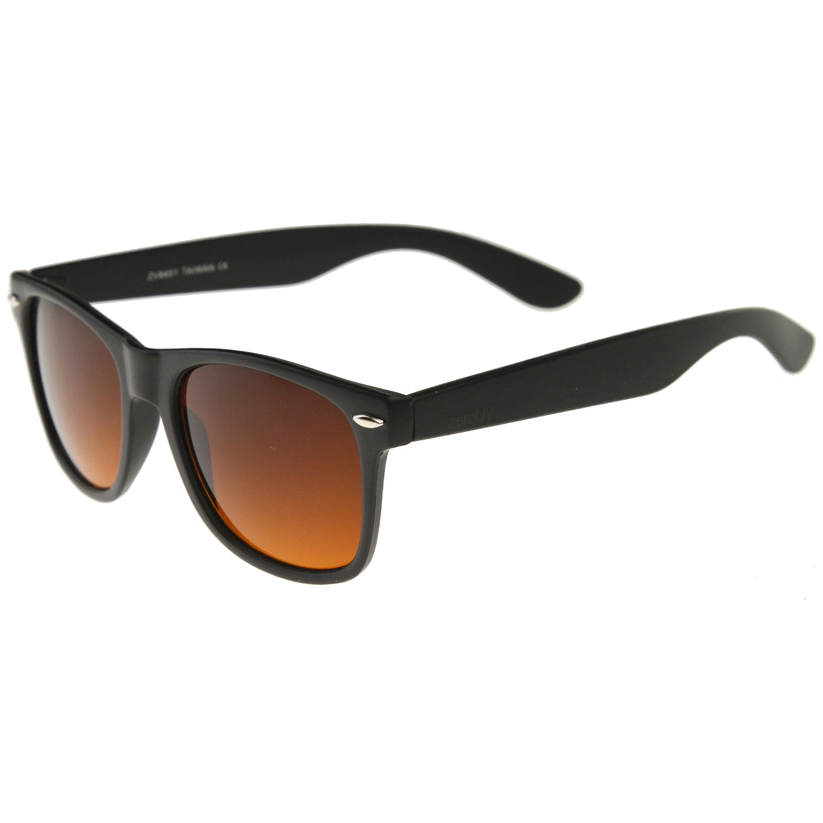 Classic Driving Blue Blocking Amber Tinted Lens Horn Rimmed Sunglasses 54mm - sunglass.la
