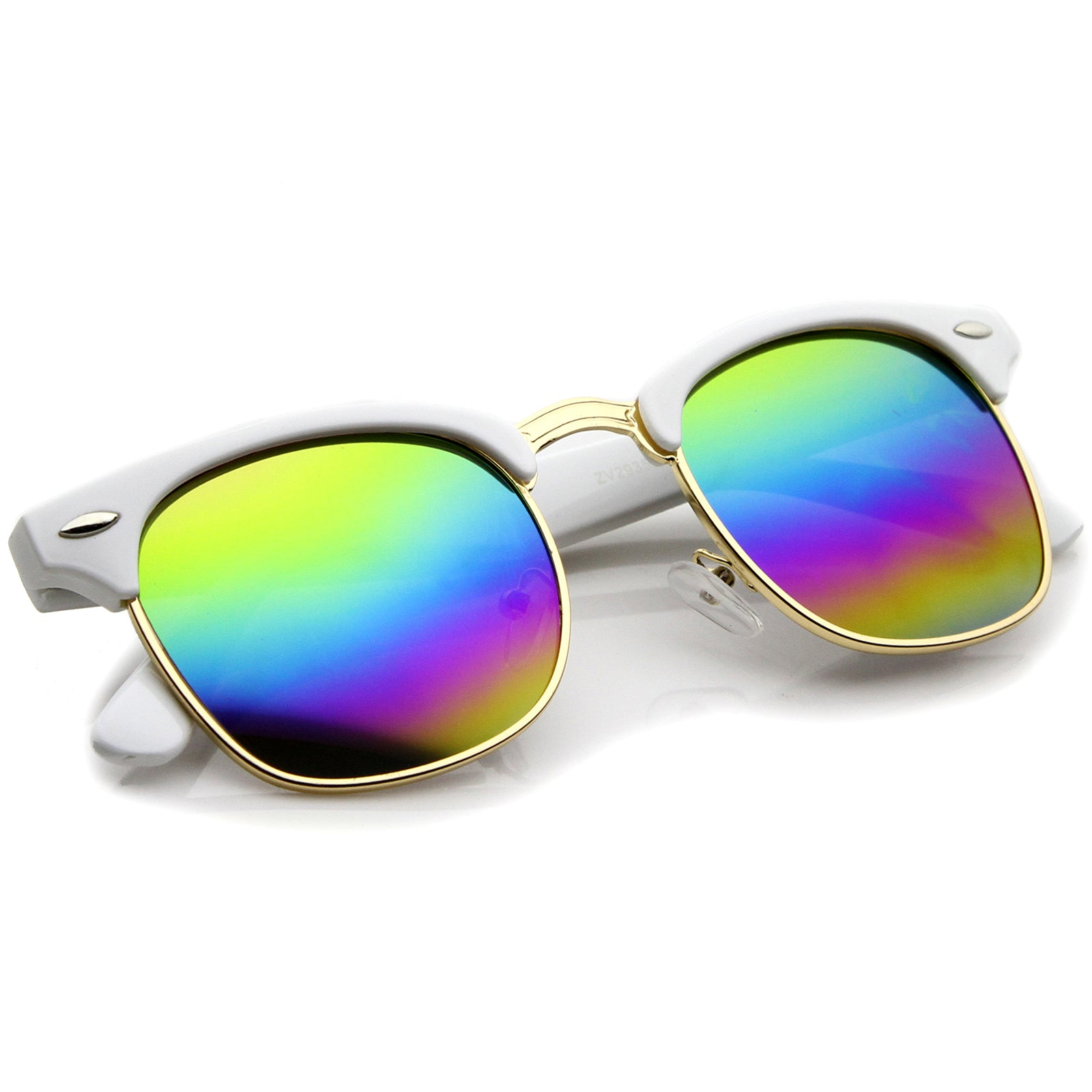 White-Gold / Rainbow Mirror