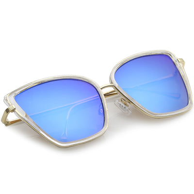 Clear Gold / Blue Mirror