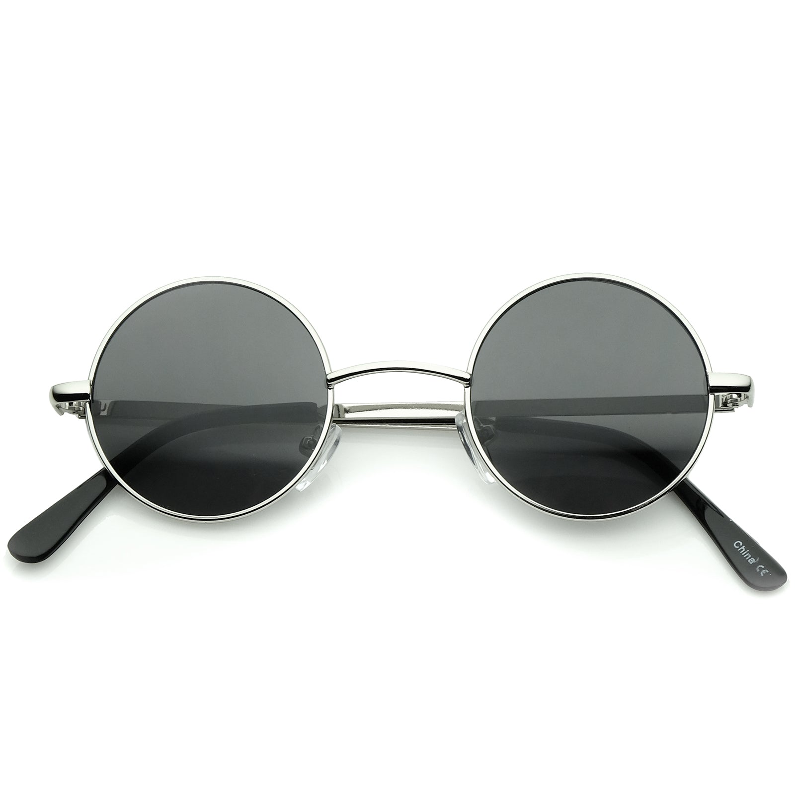 cec199dbb2a7 Small Retro Lennon Inspired Style Neutral-Colored Lens Round Metal ...