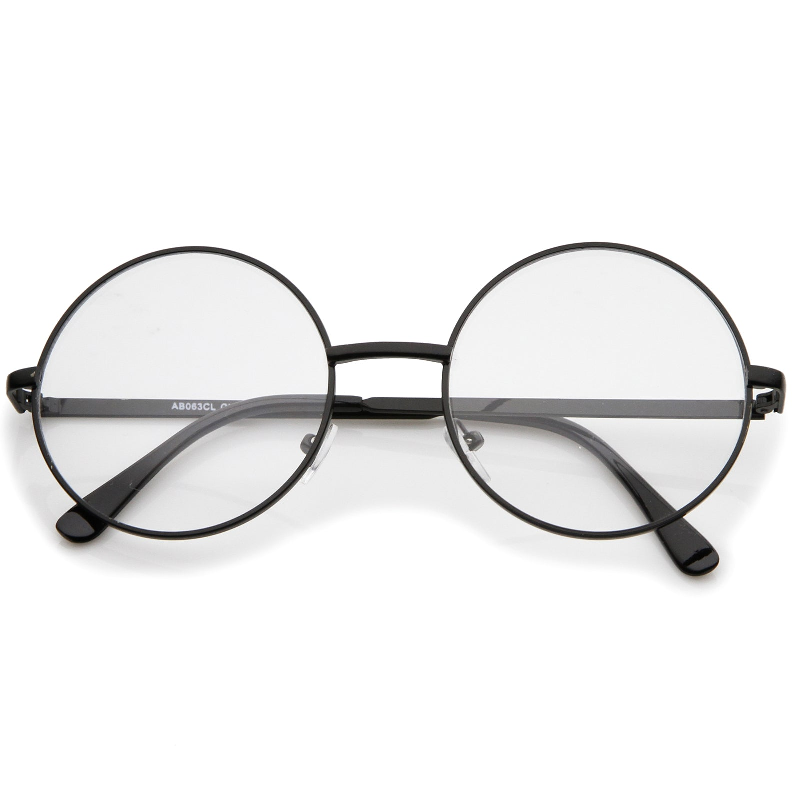 c240ea7a3d Retro Lennon Style Mid Size Metal Frame Clear Lens Round Glasses ...