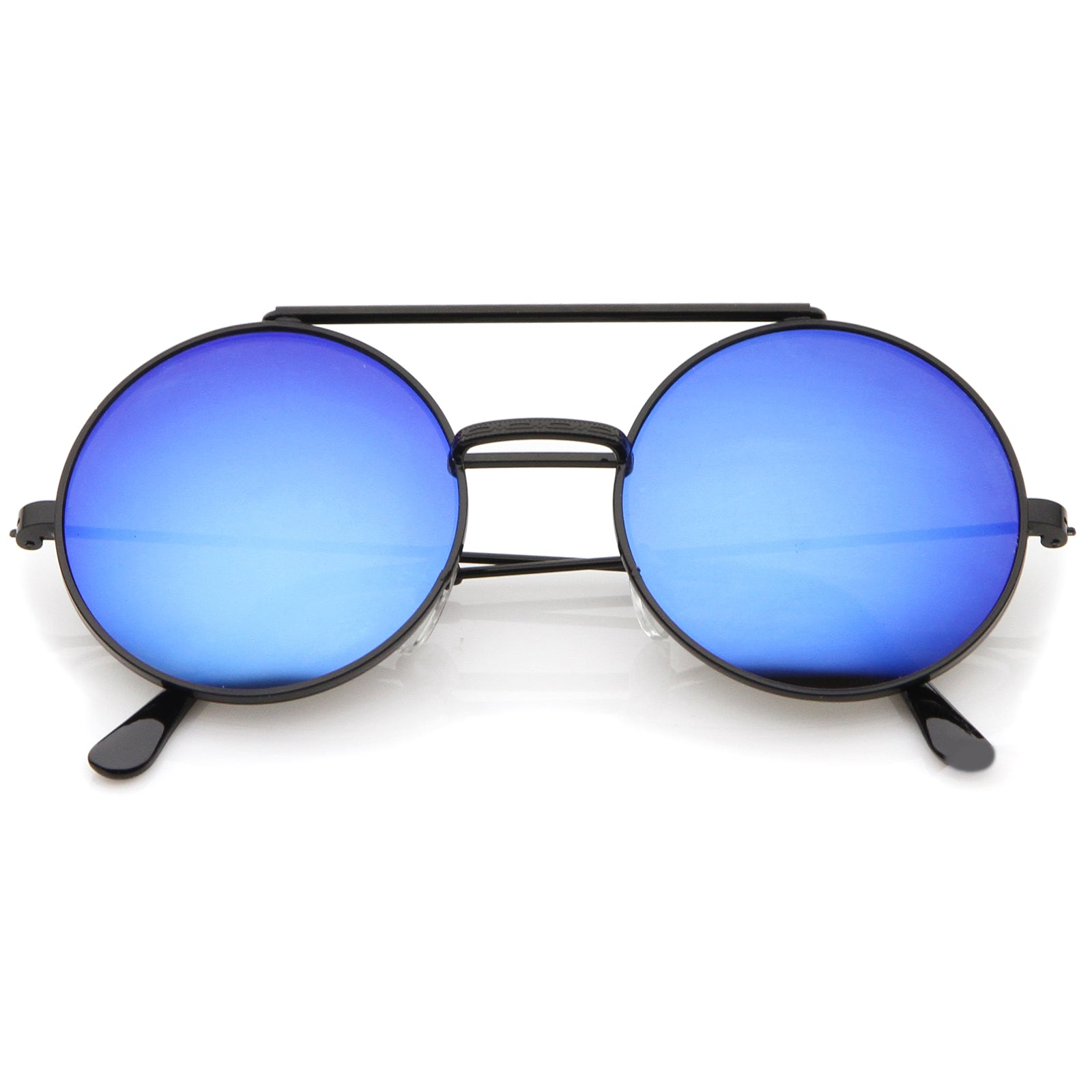 cfd4f875a Mid Size Flip-Up Colored Mirror Lens Round Django Sunglasses 49mm ...