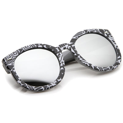Black-White-Native / Silver Mirror