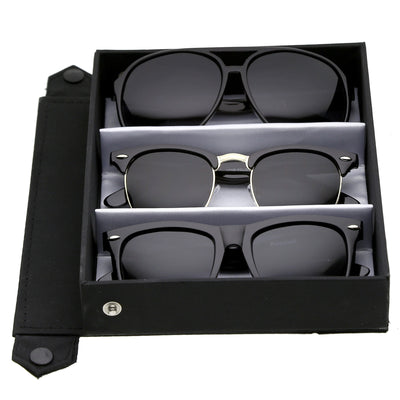 3-Pack Deluxe | Polarized Black Smoke Set