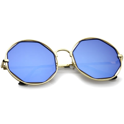 Gold-Blue / Blue Mirror