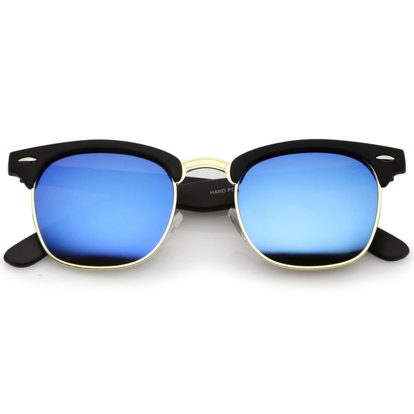 Rubberized Black-Gold / Blue Mirror