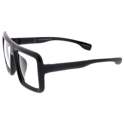 5c017eb040 Oversize Bold Thick Frame Clear Lens Square Eyeglasses 58mm ...