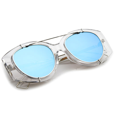 Clear Silver / Blue Mirror