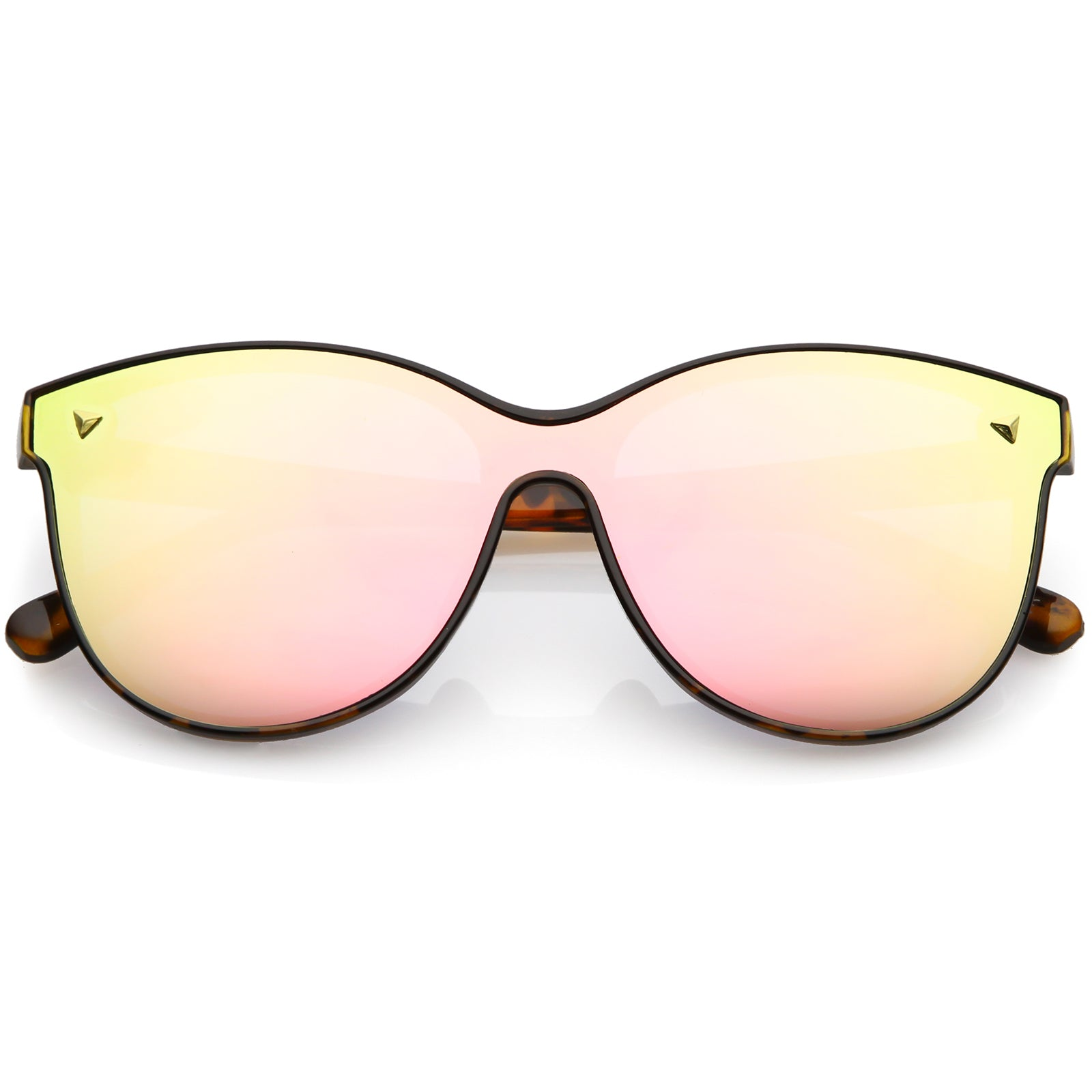 0a5c6924aa2e8 Modern Round Sunglasses Horned Rim Color Mirrored Flat Lens 58mm ...