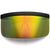 Futuristic Oversize Shield Visor Sunglasses Flat Top Mirrored Mono Lens 172mm