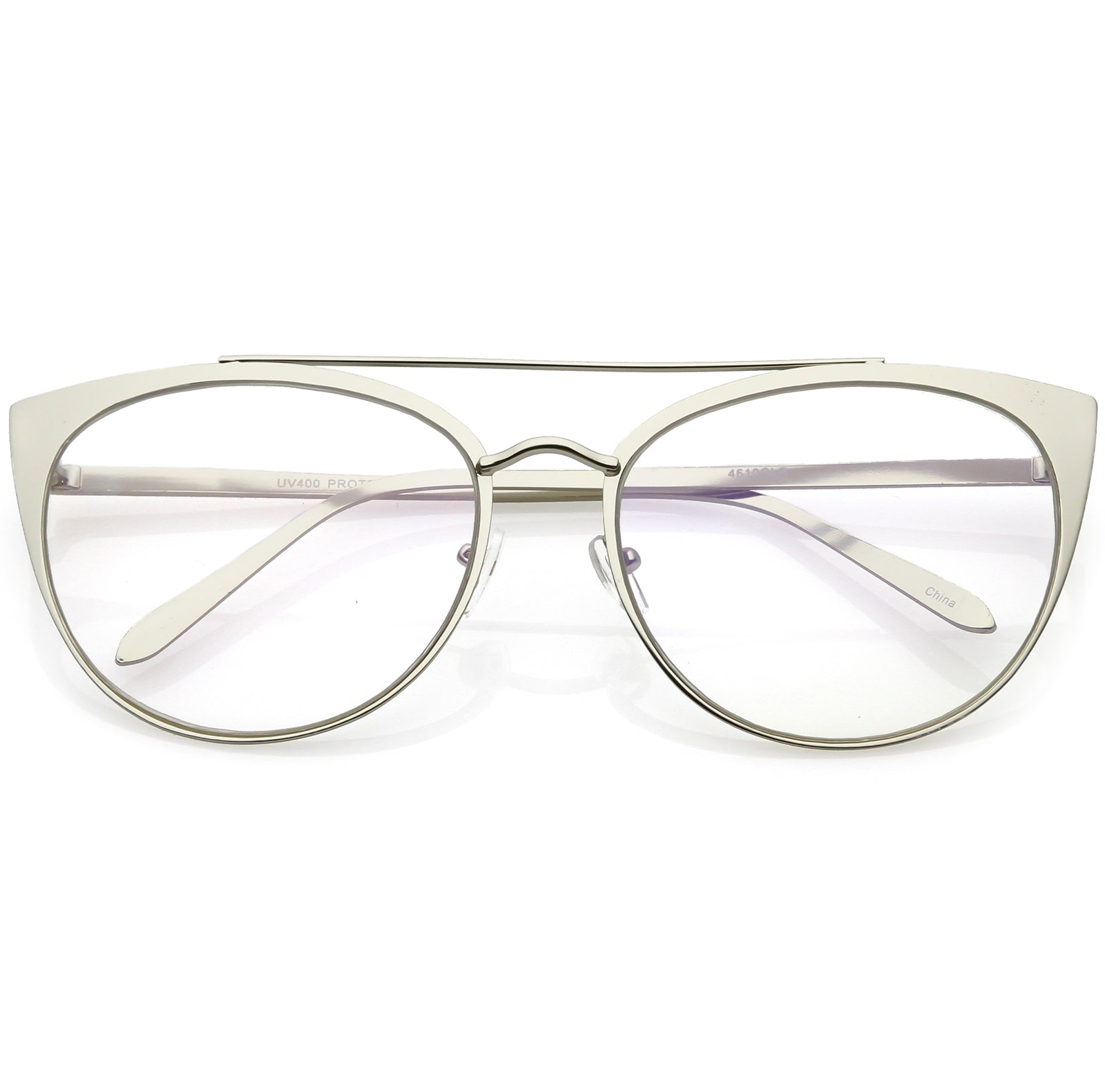 OVERSIZE Cat Eye Style With Crossbar Round Sunglasses Translucent Sunnies Retro