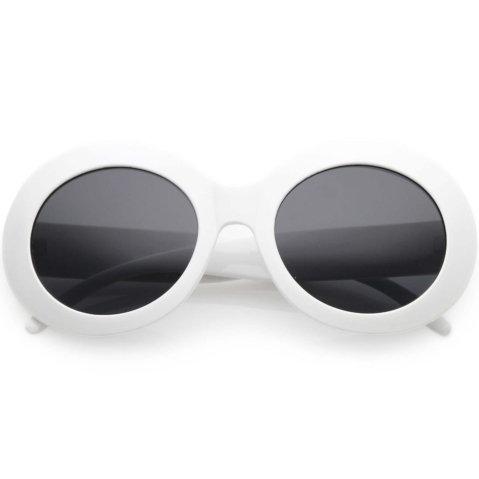abc7489811 Large Oversize Chunky Oval Sunglasses Wide Arms Neutral Colored Lens ...