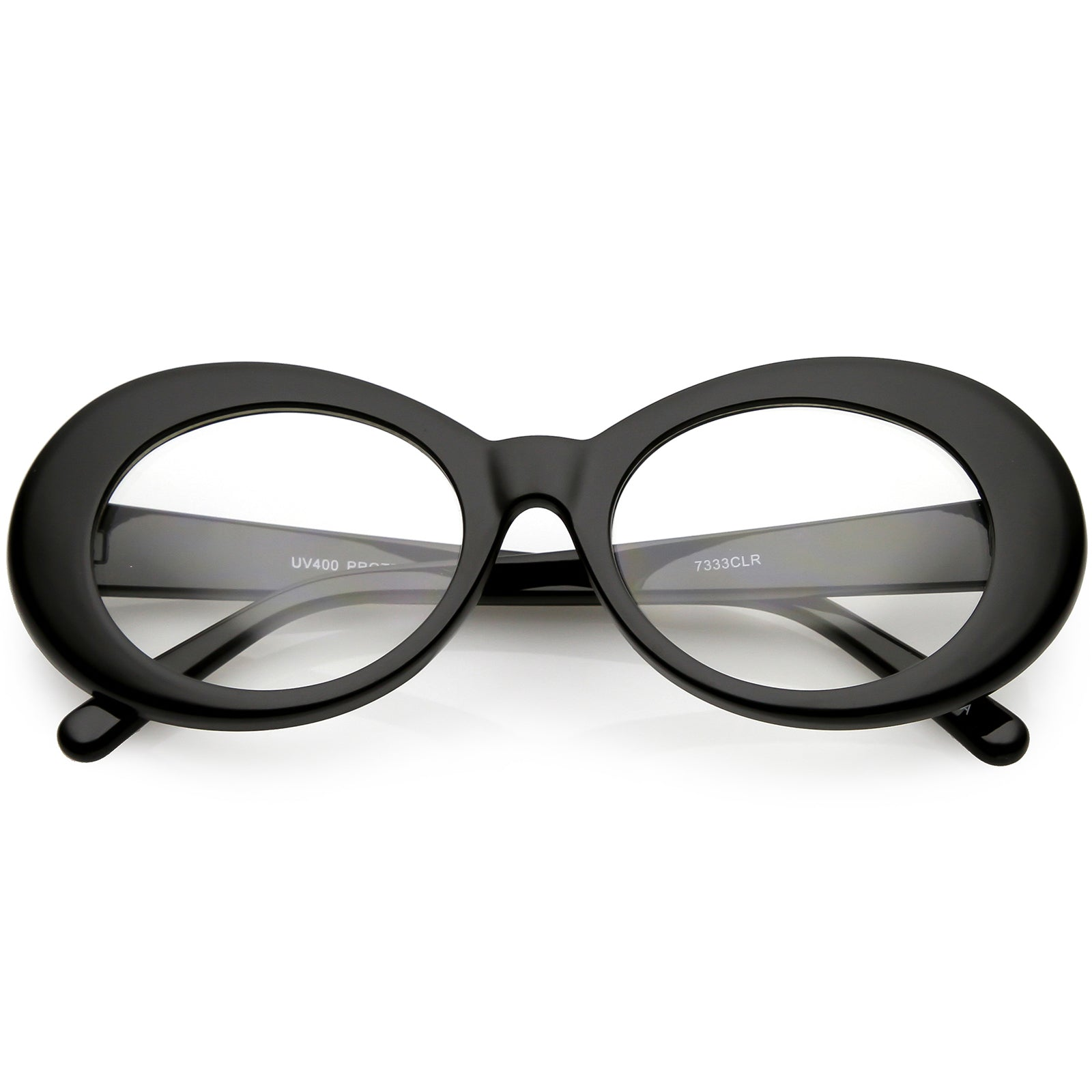 38171d9206 Large Clout Goggles Thick Oval Eyeglasses Clear Lens 53mm - sunglass.la