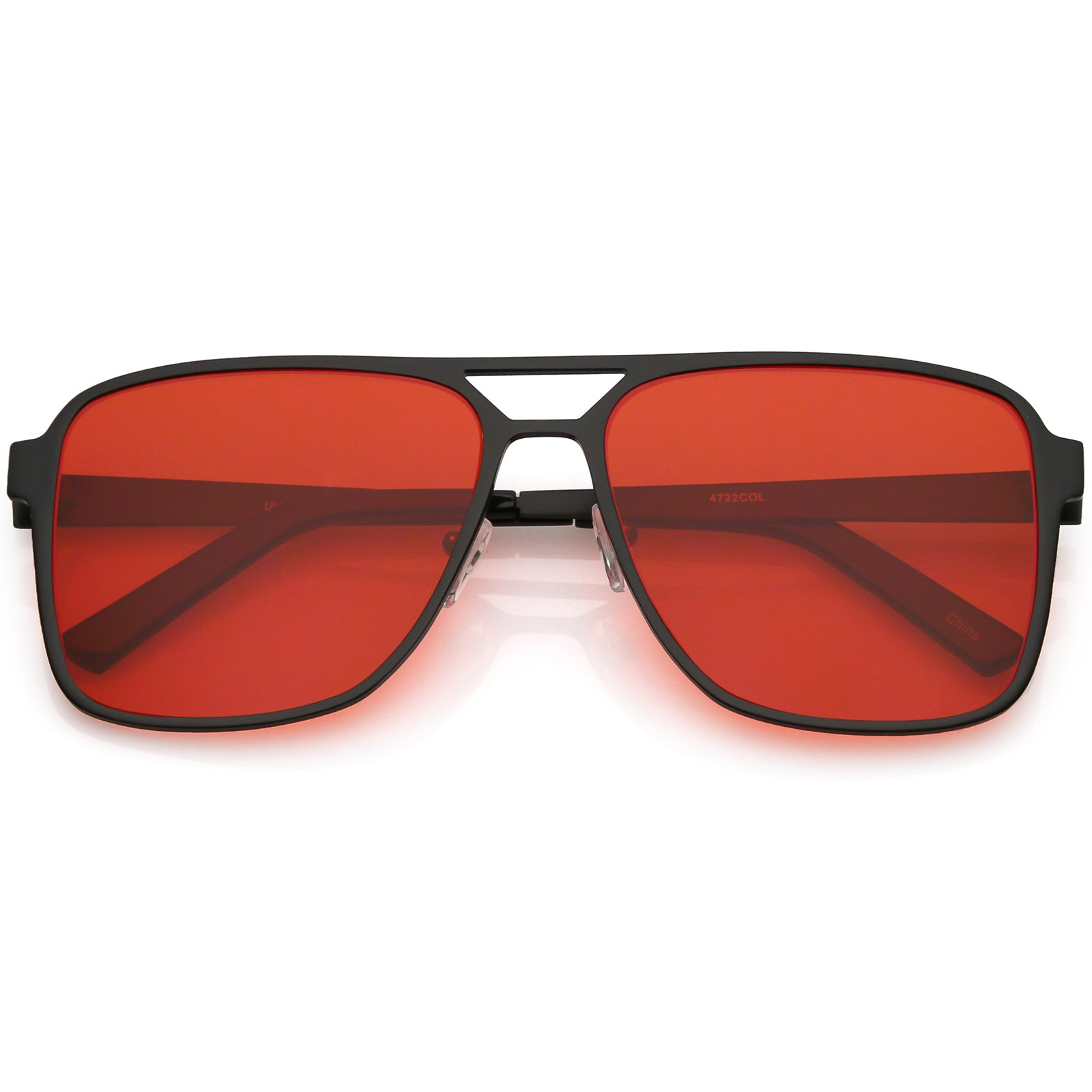 9a6a826a7bc Oversize Flat Top Aviator Sunglasses Color Tinted Square Flat Lens ...