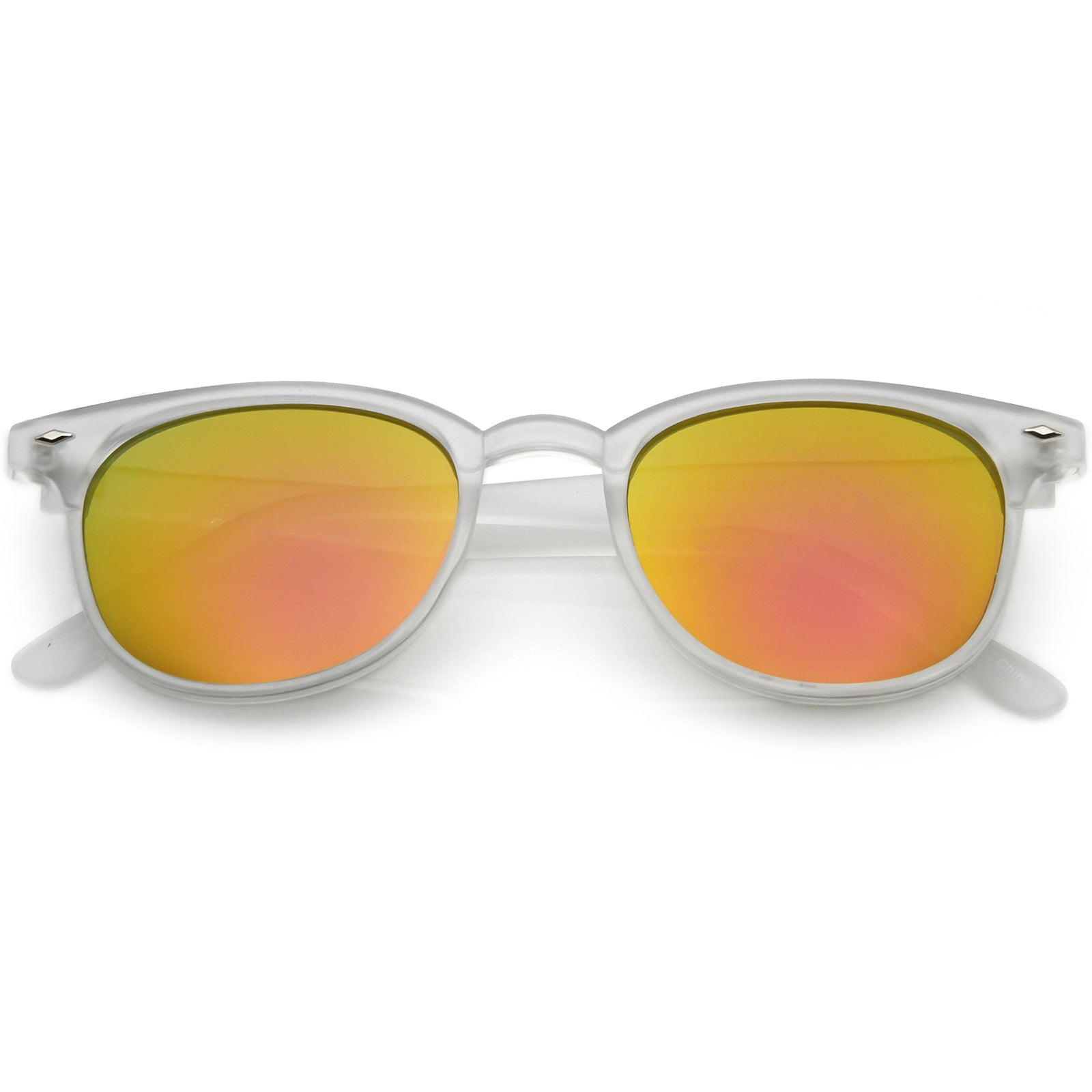 16ee3088f1 Oversize Horn Rimmed Sunglasses Wide Arms Neutral Colored Square Lens 56mm