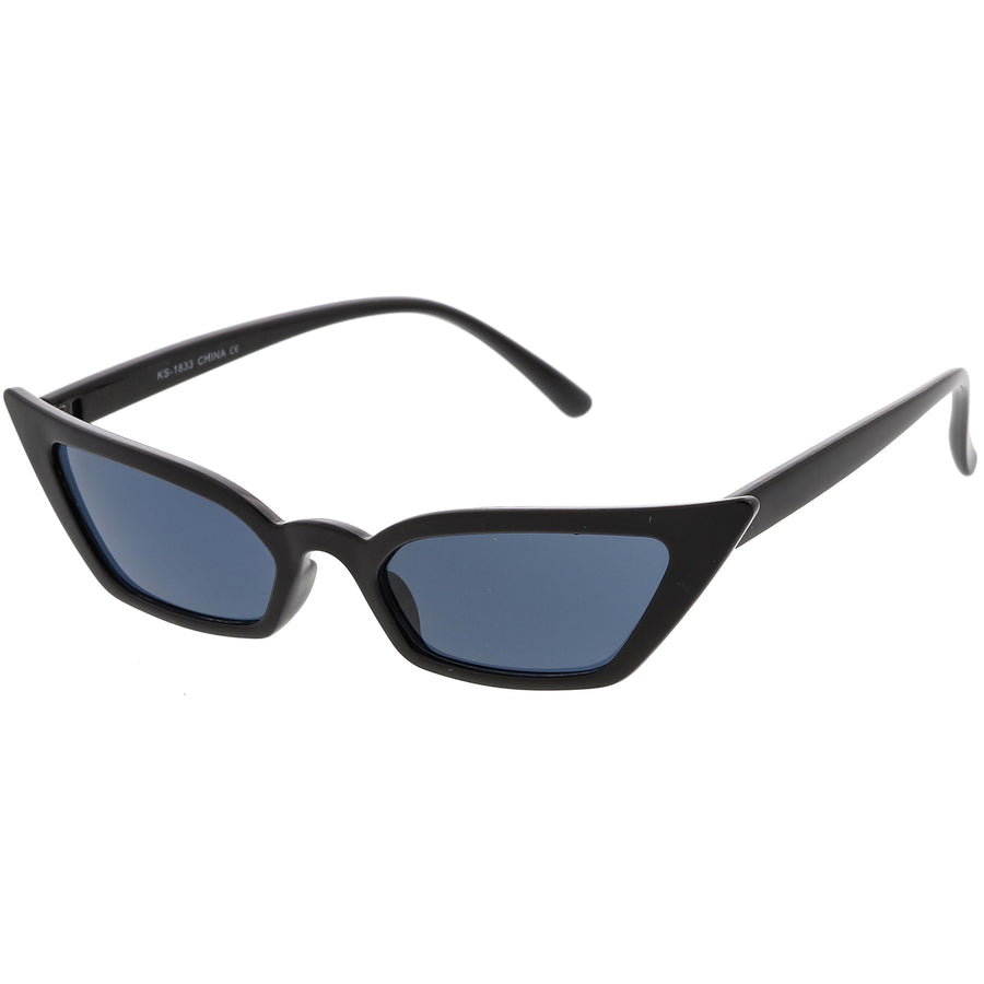 Women's Thin Extreme Cat Eye Sunglasses Rectangle Lens 47mm