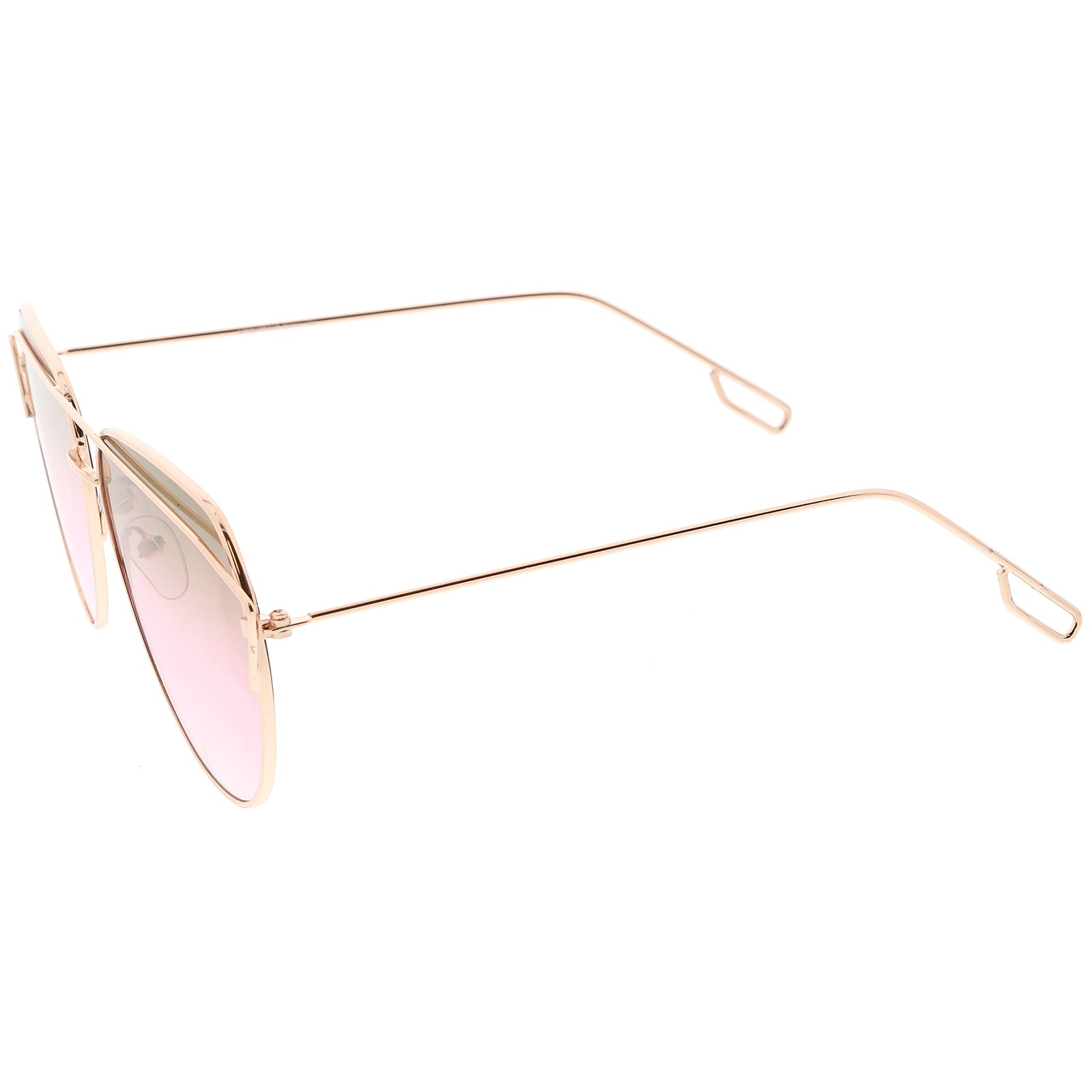 54a58ce5af Modern Aviator Sunglasses Metal Crossbar Slim Arms Color Gradient ...