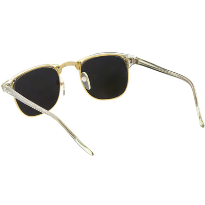 bac2dfe1cb True Vintage Horn Rimmed Semi-Rimless Sunglasses Square Mirrored ...