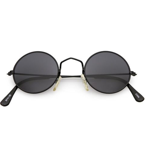 88a60ea01c True Vintage Small Thin Frame Circle Sunglasses Neutral Colored Lens 42mm
