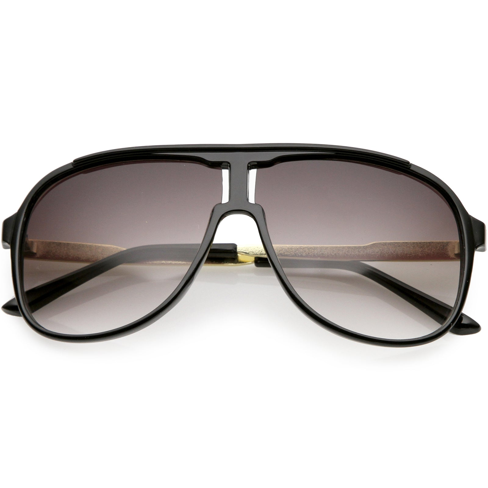 8e056437476 Men s Oversize Aviator Sunglasses Metal Arms Neutral Colored Lens ...