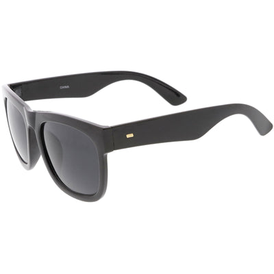 c58d27a0349 Oversize Horn Rimmed Sunglasses Wide Arms Neutral Colored Square ...