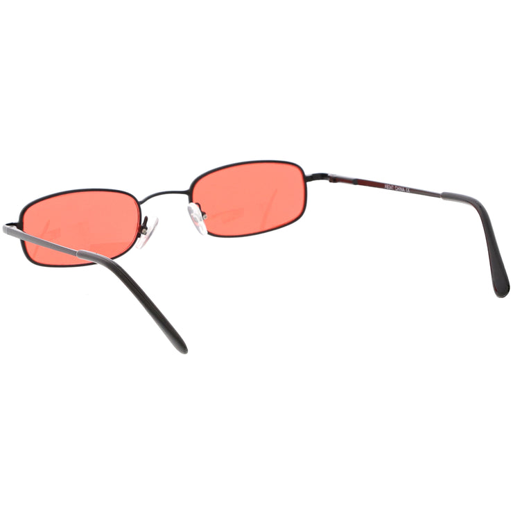 ed965d461a1 90 s Small Rectangle Sunglasses Slim Arms Color Tinted Lens 45mm ...