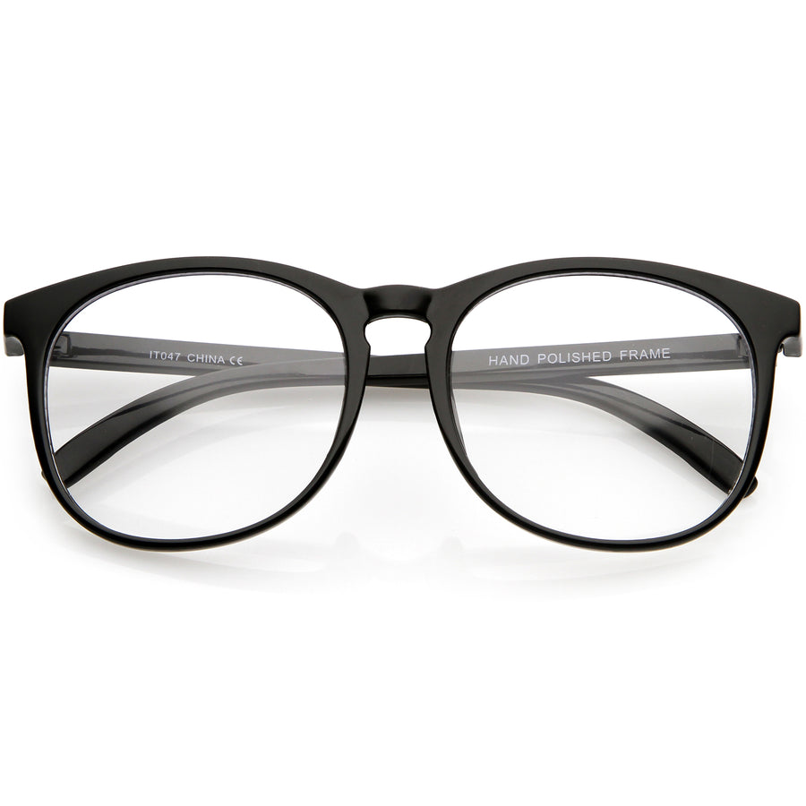 0b9b938180cc Classic Horn Rimmed Square Eyeglasses Clear Lens 54mm