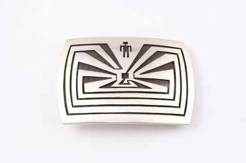 Hopi Overlay Man in Maze Buckle by Ben Mansfield - Turquoise Village - 1