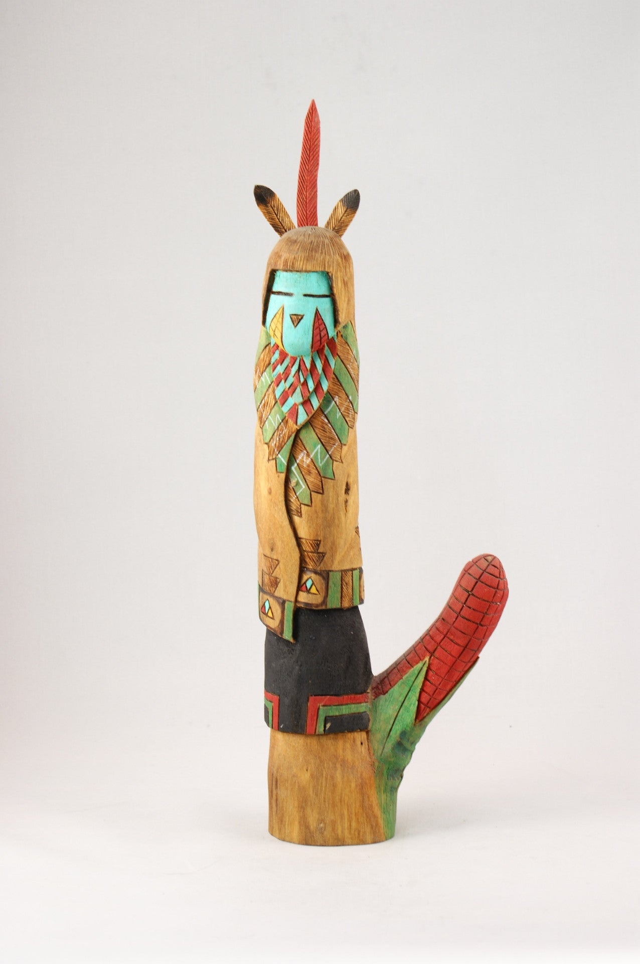 Hopi Corn Maiden Kachina By Jerome Nequatewa Turquoise
