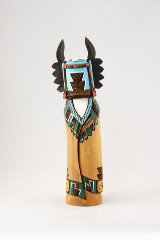 Hopi Crow Mother Kachina by Jerome Nequatewa - Turquoise Village - 1