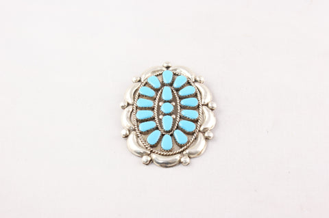 Sleeping Beauty Turquoise & Sterling Silver Pendant - Turquoise Village - 1