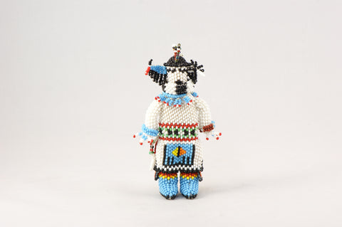 Zuni Longhorn Kachina Beaded Doll - Turquoise Village