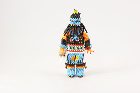 Beaded Zuni Rain Dancer Kachina - Turquoise Village