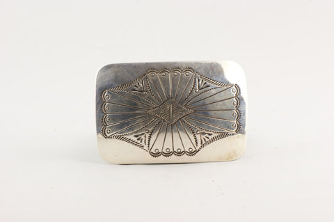 Southwestern Style Sterling Silver Belt Buckle - Turquoise Village