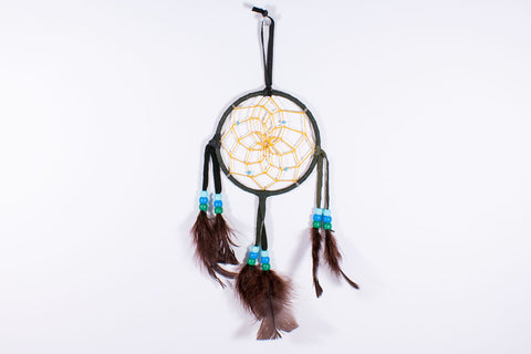 "Navajo 4"" Dream Catcher by Branston Martin - Turquoise Village - 1"