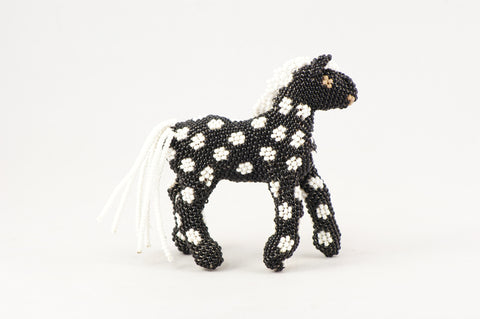 Black Beaded Horse - Turquoise Village
