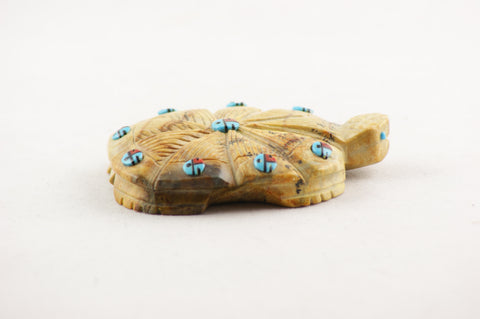 Hand Carved Serpentine Turtle Zuni Fetish - Turquoise Village - 1