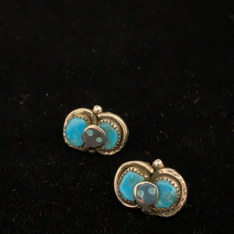 Zuni snake post earrings