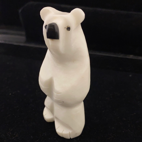 Polar bear fetish carving