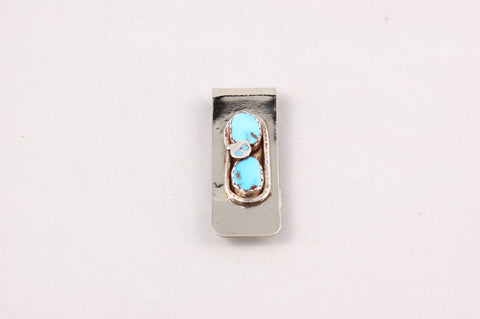 Snake Woman Turquoise Nugget Money Clip - Turquoise Village