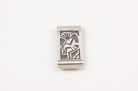 Sterling Silver Kokopeli Money Clip - Turquoise Village