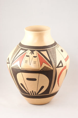 Hopi Pottery Jar by Clinton Polacca Nampeyo - Turquoise Village - 1